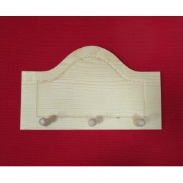 Wooden clothes hook