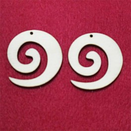 Wooden earring base set. 2 pcs