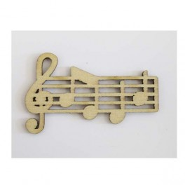 Wooden carved decoration Musical note