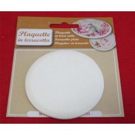 Round Bisque Ceramic plaquette