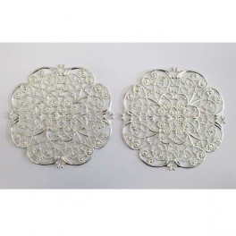 Large round filigre 65 mm, 2 pcs