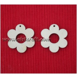 Wooden shapes set. 2 pcs (earring base)