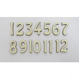 Wooden Arabic Numeral h 2.4 cm