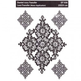 Lace transfer White ornament