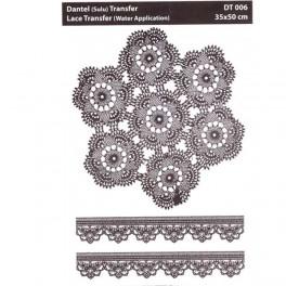 Lace transfer White ornament