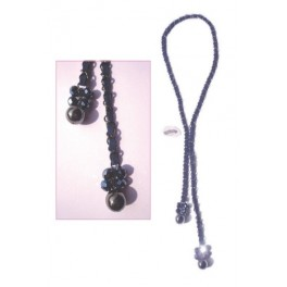Necklace chain and alcantara