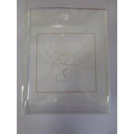 Transparent block 12x16 cm