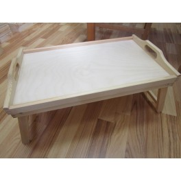 Wooden tray with legs