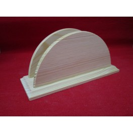 Wooden holder for napkins