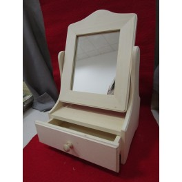 Wooden Chest of drawer with mirror