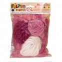 Assorted Wool and threads Pink