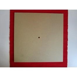 Clock base square  MDF