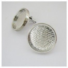 Ear rings round cup 16mm, 1 pair