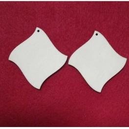 Wooden earring base set. 2 pcs