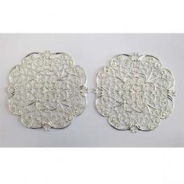 Large round filigre 65 mm, 2 pcs