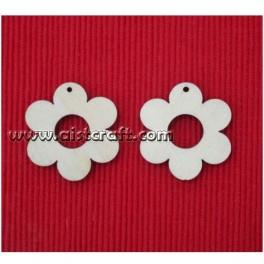 Wooden shapes set. 2 pcs (earring base)