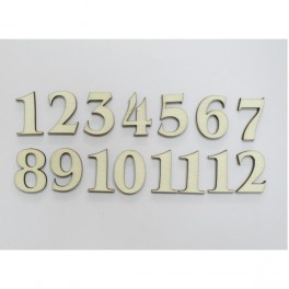 Wooden Arabic Numeral h 2 cm