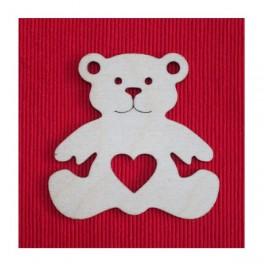 Wooden shape Bear