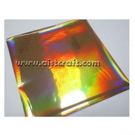 Decor foils Hologram Gold 5 pcs
