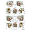 Rice paper for decoupage Christmas children