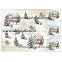 Rice paper for decoupage Winter & Christmas