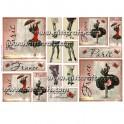 Rice paper for decoupage Woman & Paris