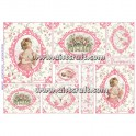 Rice paper for decoupage Vintage & woman