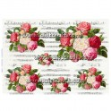 Rice paper for decoupage Roses & Music