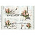Rice paper for decoupage Bike & Post Cards