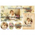Rice paper for decoupage Vintage Woman