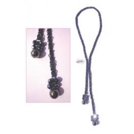 Necklace chain and alcantara