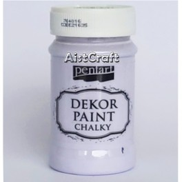 Chalky acrylic paint