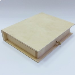 Wooden box Book with key